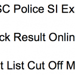 OSSC Police SI Result 2018 Cut Off Marks Merit List Odisha Sub Inspector