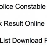 CG Constable Result 2018 Cut Off Marks Merit List Chhattisgarh Police