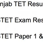 PSTET Result 2017-18 Cut Off Marks Punjab TET Paper 1 2 Merit List