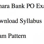 Canara Bank PO Syllabus 2018 Exam Pattern Download Selection Process