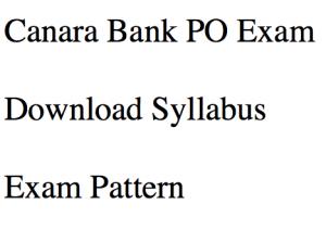 canara bank po exam syllabus 2018 exam pattern syllabus download pdf exam pattern online test selection process probationary officer