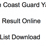 Indian Coast Guard Yantrik Result 2018 Cut Off Marks Merit List