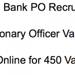 canara bank po recruitment 2018 probationary officer posts vacancy application form online jobs