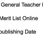 JKSSB Teacher Result 2018 Cut Off Marks Merit List General Teacher