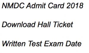 nmdc admit card download 2018 hall ticket exam date maintenance assistant trainee