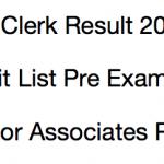 SBI Clerk Result 2018 Cut Off Marks Junior Associates Merit List