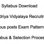 KVS LDC Syllabus 2018 Kendriya Vidyalaya Exam Pattern Non Teaching Post