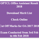 OPTCL Office Assistant Result 2017-18 Cut Off Marks OA Merit List Expected