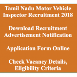 TNPSC Motor Vehicle Inspector Recruitment 2018 MVI Vacancy 113 Posts