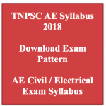 TNPSC AE Syllabus 2018 Assistant Engineer Electrical Civil Exam Pattern