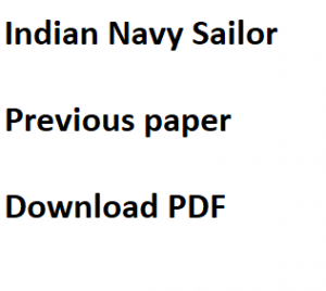 indian navy sailor previous years question paper download solved sample set pdf model mcq questions answers