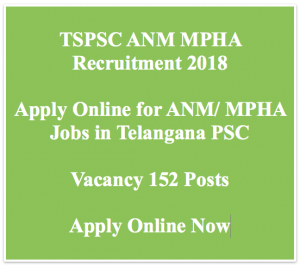tspsc anm recruitment 2018 vacancy anm mpha jobs application form telangana apply online