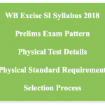WB Excise SI Syllabus 2018 Physical Written Test Exam Pattern Download