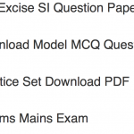 WB Excise SI Previous Question Paper Download Solved PDF