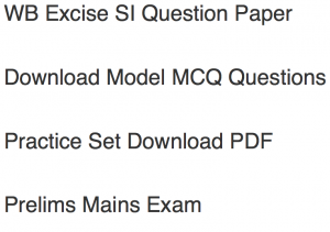 wb excise si previous years question paper download old solved pdf model sample mcq questions answers objective west bengal police wbp policewb dept sample practice set free
