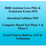 Loco Pilot Syllabus 2018 Download PDF RRB Exam Pattern Selection Process