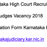 Karnataka High Court Civil Judges Recruitment 2018 Vacancy 101 Posts
