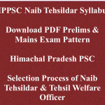 HPPSC Naib Tehsildar Syllabus 2018 Exam Pattern Download Selection Process