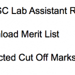 TNPSC Lab Assistant Result 2018 Cut Off Marks Merit List Publishing Date