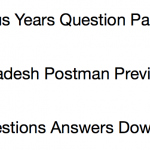 AP Postman Previous Years Question Paper Download Andhra Pradesh