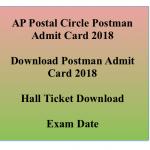 AP Postman Admit Card 2018 Exam Date Hall Ticket appost.in