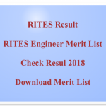 RITES Engineer Result 2018 Cut Off Marks Merit List Result Expected Date