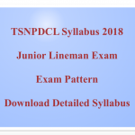 TSNPDCL Junior Lineman Syllabus 2018 JLM Exam Pattern Download