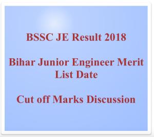 bssc je result 2018 bihar junior engineer result merit list download check online score bssc.bih.nic.in bihar staff selection commission