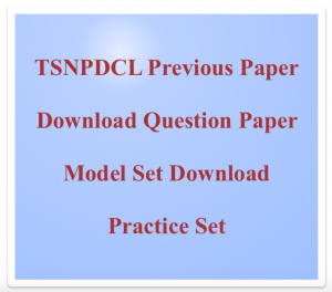 tsnpdcl previous years question paper download solved old set model practice questions answers