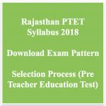 Rajasthan PTET Syllabus 2018 Exam Pattern Download MDSU