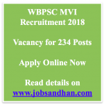 WBPSC MVI Recruitment 2018 Eligibility Motor Vehicle Inspector Vacancy