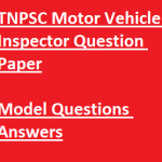 TNPSC Motor Vehicle Inspector Previous Question Paper Download Solved PDF