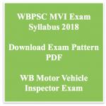 WBPSC MVI Syllabus 2018 WB Motor Vehicle Inspector Exam Pattern