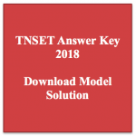 TNSET Answer Key 2018 Model Solution Solved Paper Download