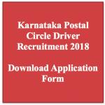 Karnataka Postal Circle Driver Recruitment 2018 Vacancy Driver Jobs 8 Post
