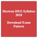 HARTRON DEO Syllabus 2018 Download Data Entry Operator Exam Syllabus Pattern