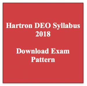 hartron deo syllabus 2018 exam pattern download data entry operator exam pattern pdf topic wise