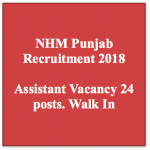 nhm punjab recruitment 2018 vacancy for assistant posts application form jobs walk in driver punjab