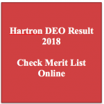 Hartron DEO Result 2018 Cut Off Marks Data Entry Operator Check