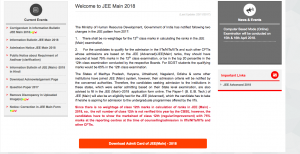 jee main admit card download 2018 exam date joint entrance examination www.jeemain.nic.in