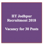 iit jodhpur recruitment 2018 vacancy online application jobs iit jodhpur notification junior assistant registrar posts