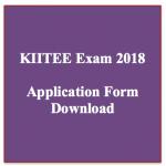 kiitee exam 2018 application form notification download online application