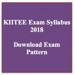 KIITEE Syllabus 2018 Download KIITEE Exam Syllabus PDF Pattern