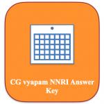 CG Vyapam RI Answer Key 2018 Revenue Inspector Model Solution sheet