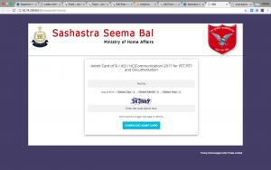 ssb si asi hc admit card 2019 hall ticket download ssb hc ministerial admit card 2019 download link