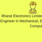 bel recruitment 2018 bharat electronics limited vacancy application form engineer