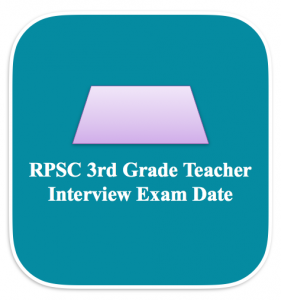 rpsc 3rd grade teacher admit card 2018 download hall ticket written test interview call letter