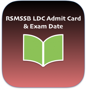 rsmssb ldc admit card 2018 download lower division clerk junior assistant clerk ldc hall ticket downloading date starting published