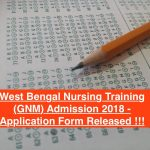 wb gnm nursing admission 2018 download form application west bengal wbhealth.gov.in