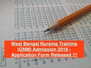 wb gnm nursing admission 2018 download form application west bengal wbhealth.gov.in